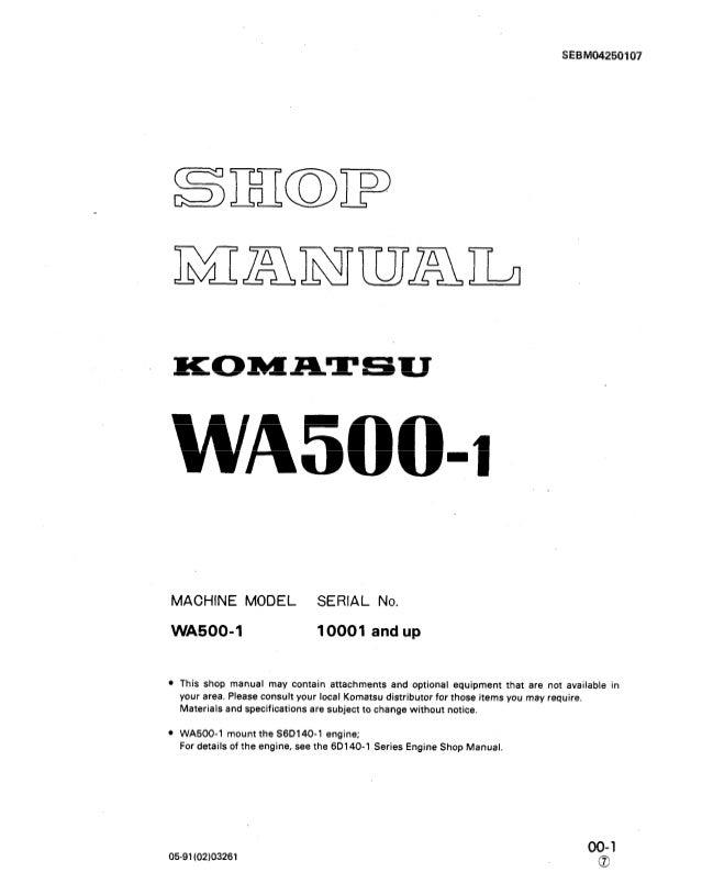 komatsu wa500 1 wheel loader service repair manual sn:10001 and upKomatsu Oil Cooler Also Ford F 150 Starter Solenoid Wiring Diagram #18