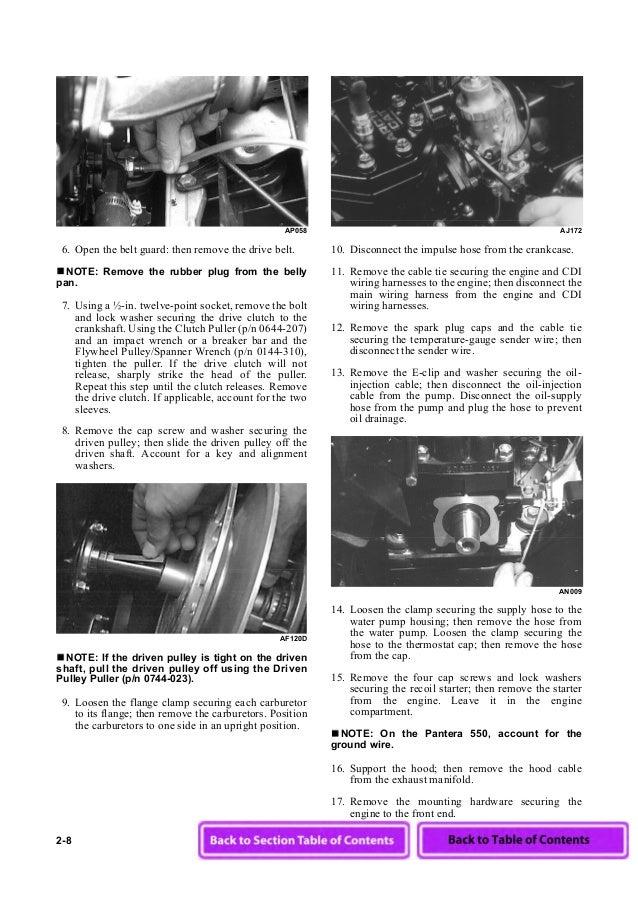 2003 Arctic Cat Pantera 600 Efi Snowmobile Service Repair Manual