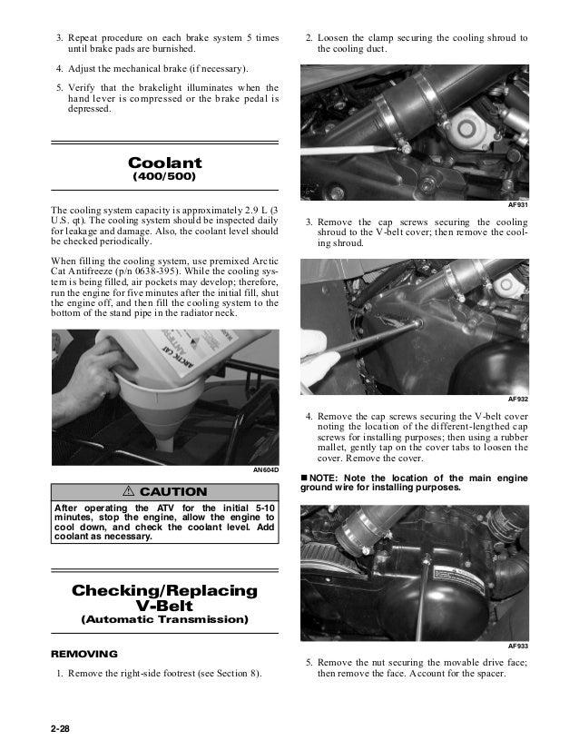arctic cat 400 automatic transmission 2006 service manual