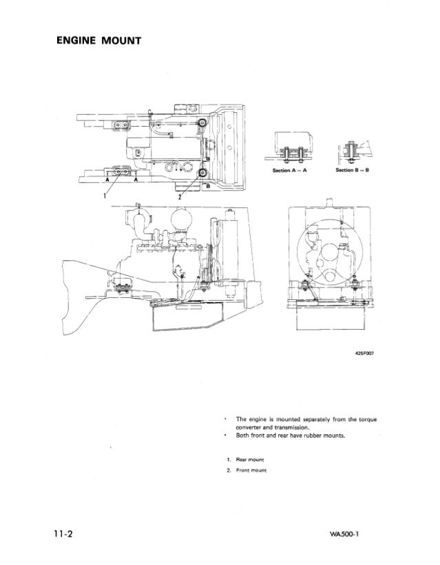 KOMATSU WA500-1 WHEEL LOADER Service Repair Manual SN