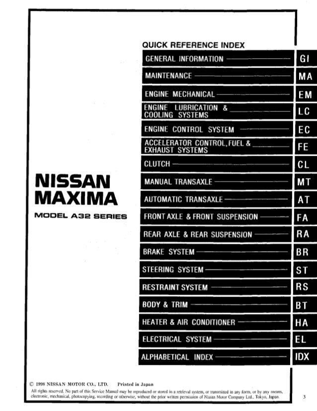 1999 nissan maxima service repair manual rh slideshare net 1999 nissan sentra service manual 1999 nissan sentra repair manual