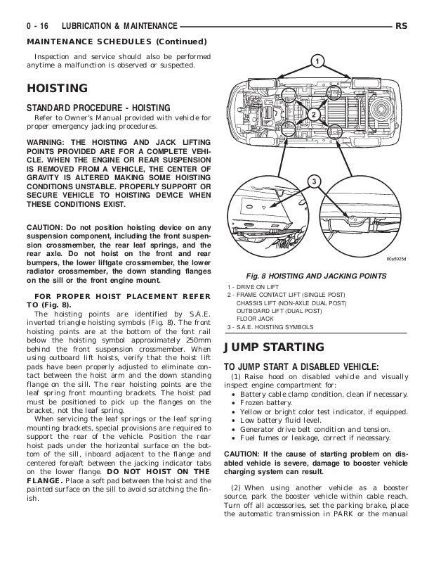2001 dodge caravan owners manual free