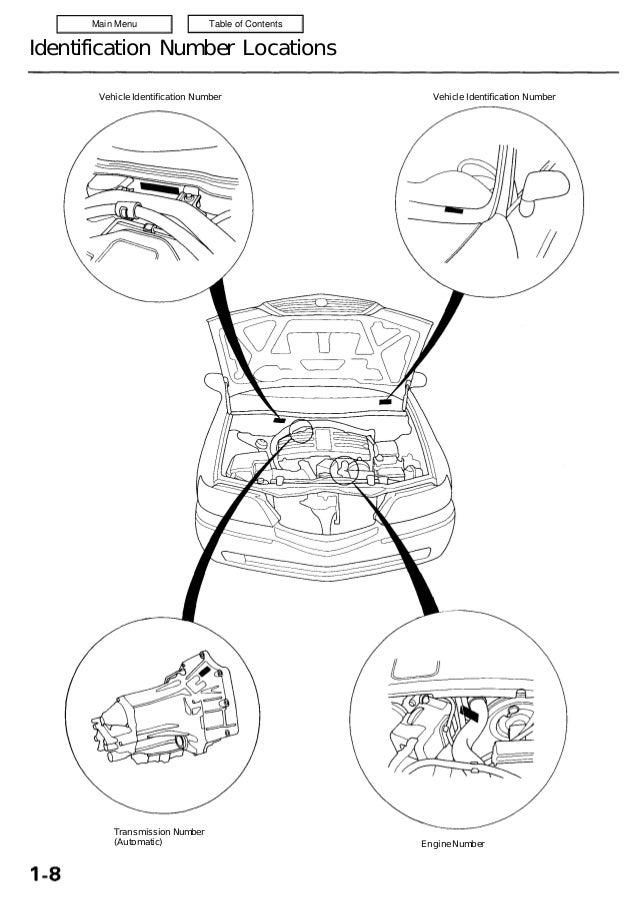2001 ACURA 3.5RL Service Repair Manual