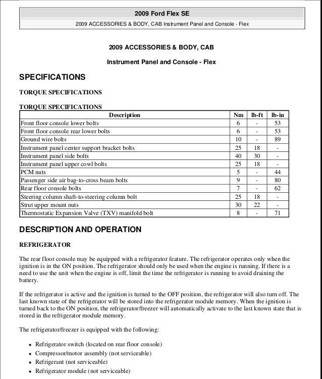 2009 ford flex service repair manual rh slideshare net 2010 ford flex service manual 2014 ford flex service manual
