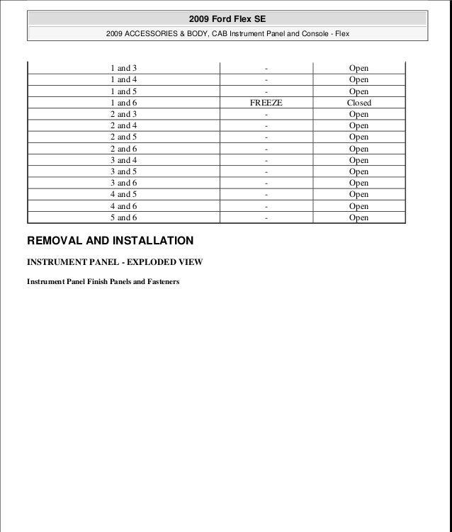 2009 Ford Flex Service Repair Manual