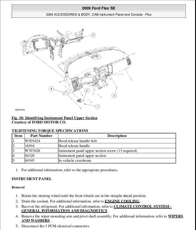 2009 ford flex service repair manual rh slideshare net 2009 ford flex repair manual download 2009 ford flex workshop manual