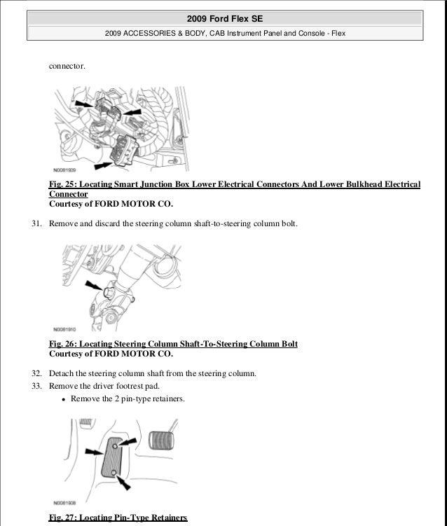 2009 ford flex service repair manual rh slideshare net 2009 ford flex workshop manual White Ford Flex Interior