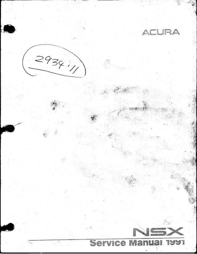 1991 acura nsx service repair manual rh slideshare net acura nsx owners manual acura nsx owners manual