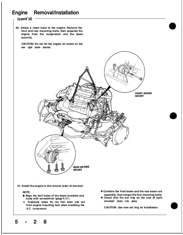 1991 ACURA NSX Service Repair Manual