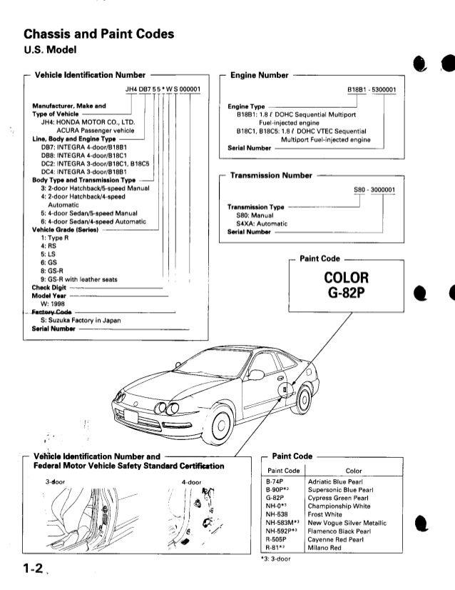 1999 acura integra repair manua