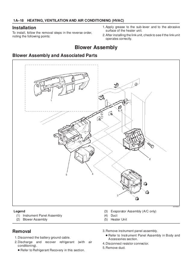 2001 Isuzu Trooper Rodeo Amigo Vehicross Axiom Service Repair Manual
