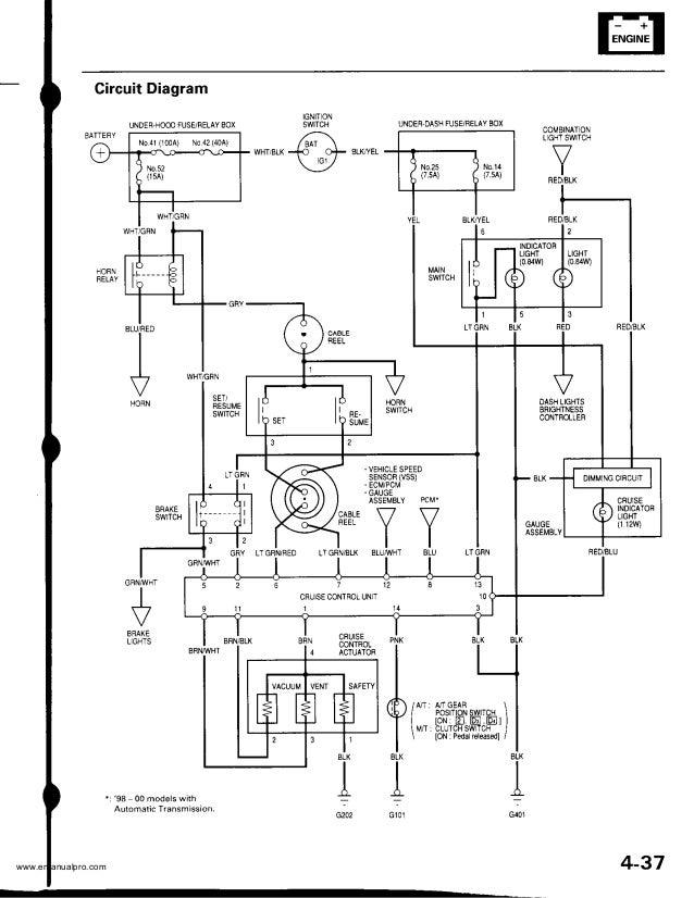 1999 HONDA CRV Service Repair Manual