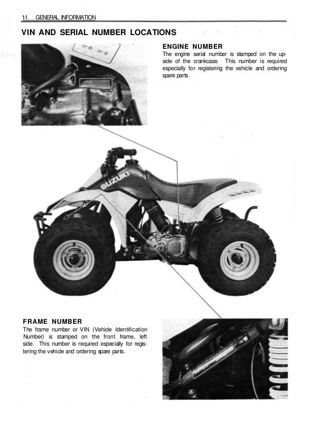 1994 Suzuki LT80R Quadsport Service Repair Manual