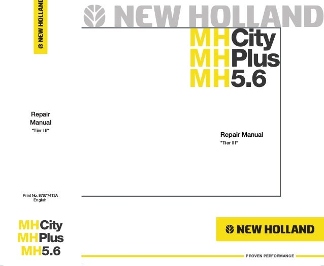 NEW HOLLAND MH CITY WHEEL EXCAVATOR Service Repair Manual