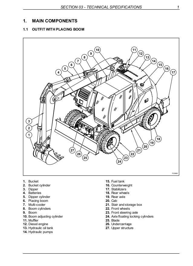 NEW HOLLAND MH CITY WHEEL EXCAVATOR Service Repair Manual on