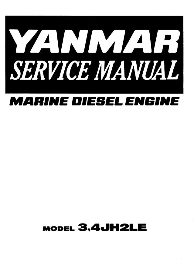 Yanmar 3JH2L Marine Diesel Engine Service Repair Manual
