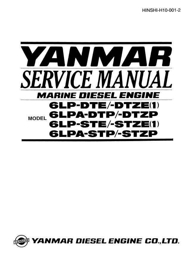 Yanmar 6LPA-STP Marine Diesel Engine Service Repair Manual