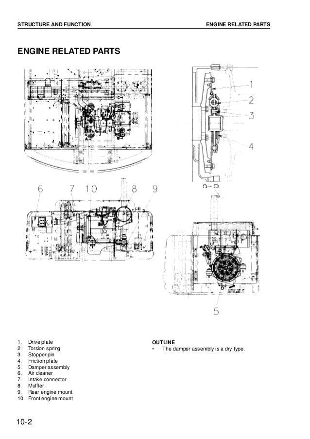 Komatsu PW170ES-6K Hydraulic Excavator Service Repair