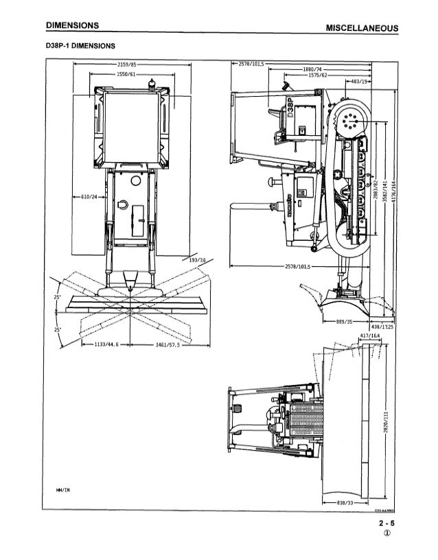 Komatsu D38P-1 Dozer Bulldozer Service Repair Manual S/N