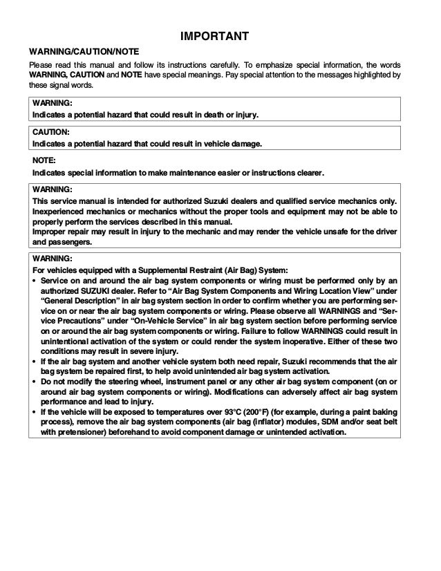 Bestseller  Suzuki Liana Workshop Manual Free Download