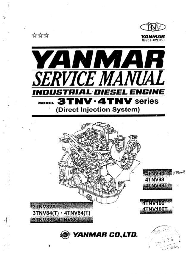 YANMAR 3TNV DIESEL ENGINE Service Repair Manual