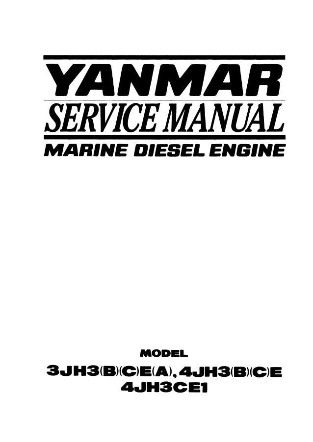 Yanmar 3JH3(B)(C)E(A) Marine Diesel Engine Service Repair