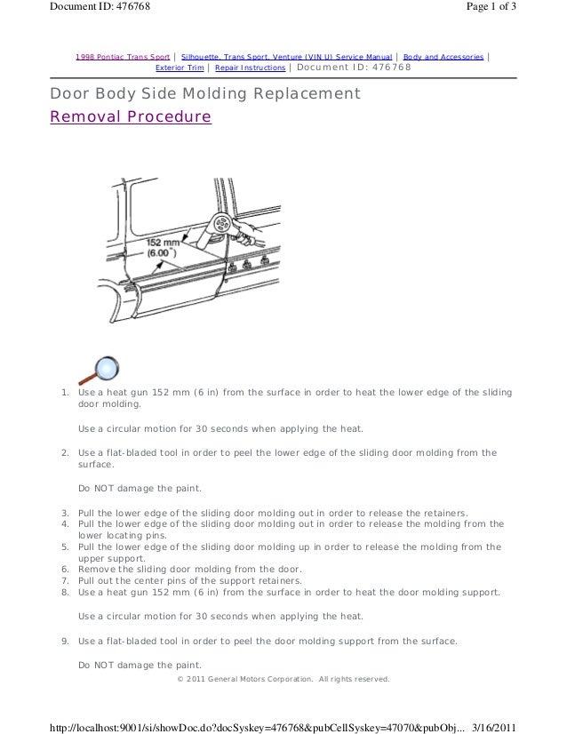 2005 pontiac montana repair manual
