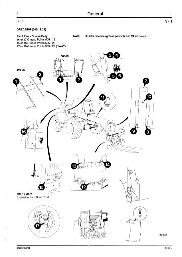 JCB 508-40 TELESCOPIC HANDLER Service Repair Manual ALL