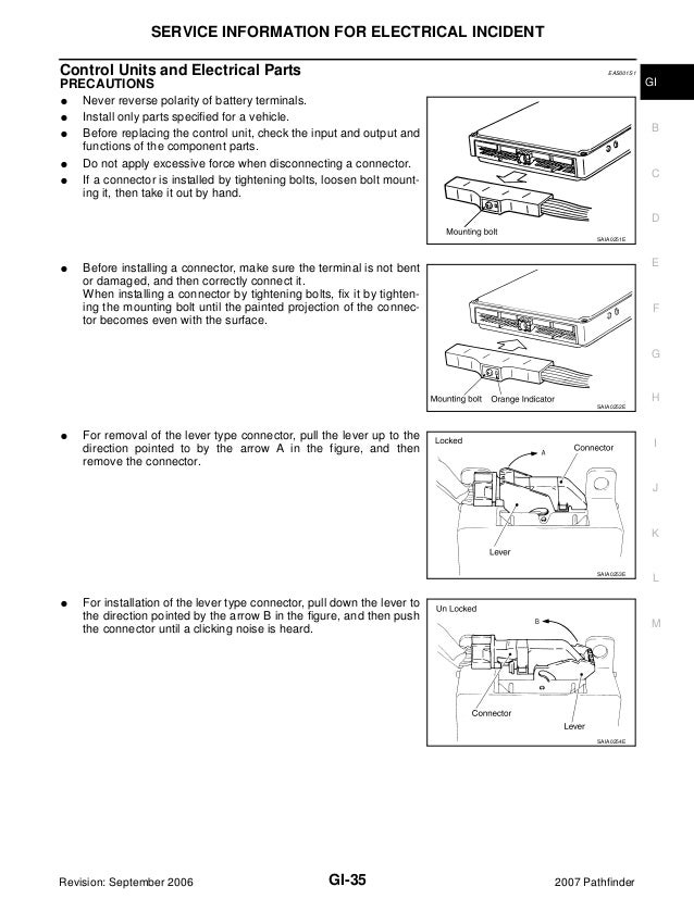 2007 NISSAN PATHFINDER Service Repair Manual