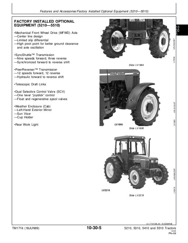 JOHN DEERE 5510 TRACTOR Service Repair Manual