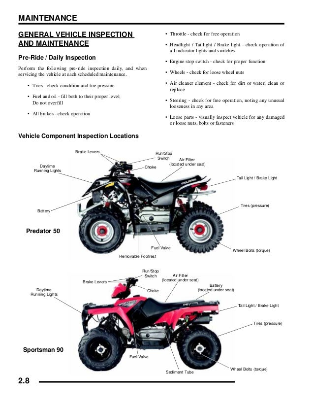 2009 Polaris Outlaw 50 Service Repair Manual