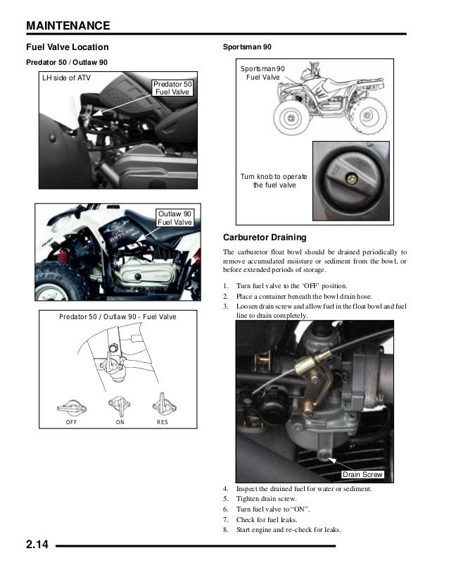 2008 polaris outlaw sportsman predator 50 90 atv repair pdf