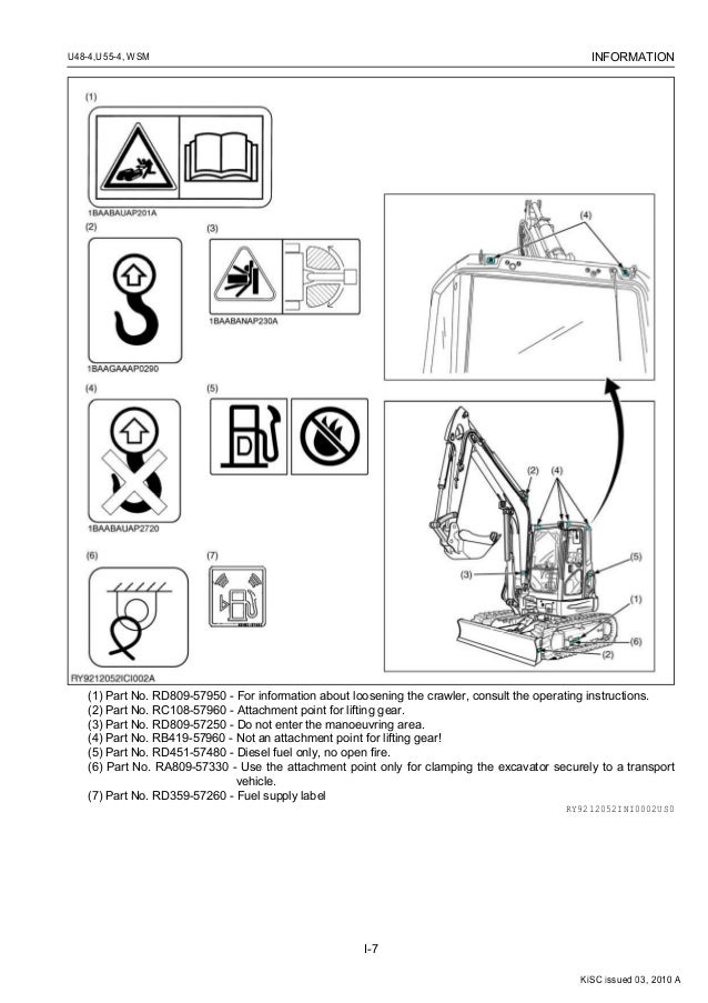 KUBOTA U55-4 EXCAVATOR Service Repair Manual