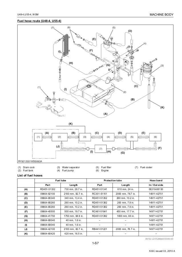 KUBOTA U55-4 EXCAVATOR Service Repair Manual