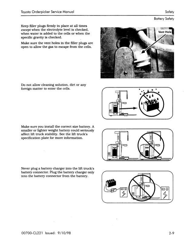 TOYOTA 6BPU15 ORDERPICKER Service Repair Manual SN:70001 to