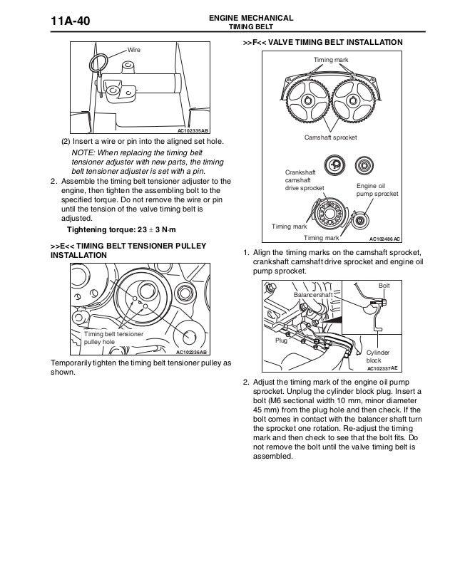 2005 MITSUBISHI AIRTREK Service Repair Manual on