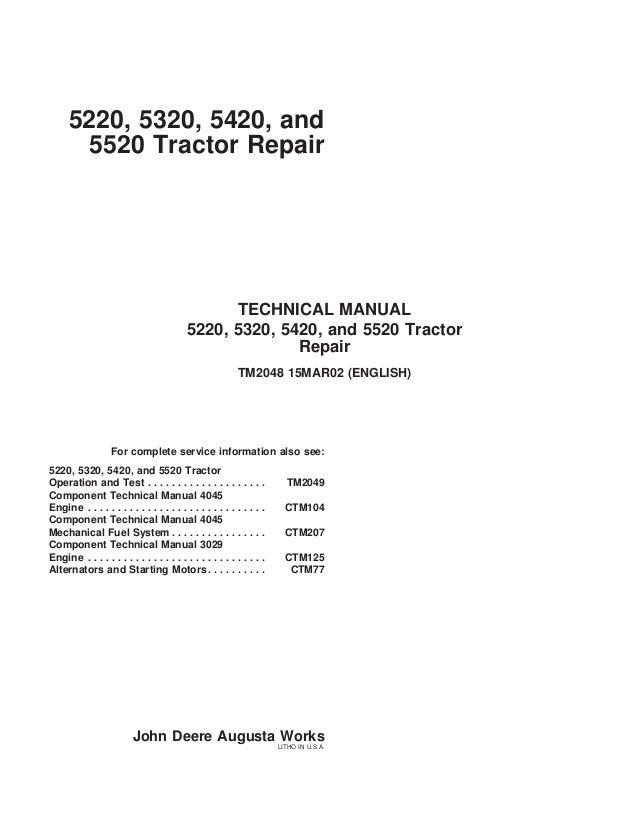john deere 5420 tractor service repair manual john deere 6400 wiring diagram 5220, 5320, 5420, and 5520 tractor repair technical manual 5220, 5320,