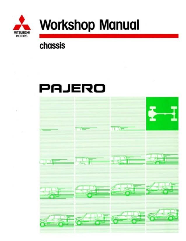 2006 mitsubishi montero pajero service repair manual rh slideshare net  Pajero GDI in Red