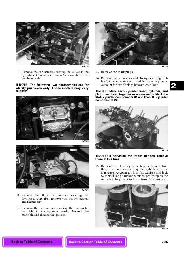arctic cat snowmobile service manual