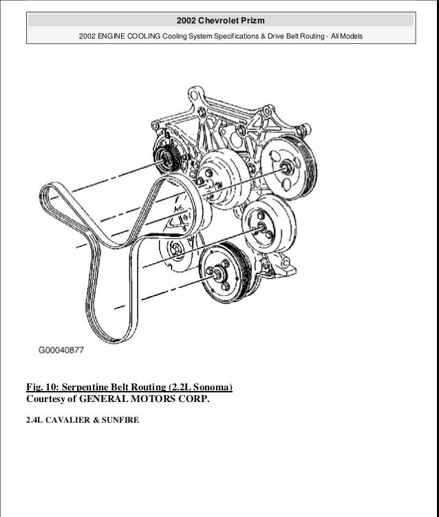 2002 CHEVROLET PRIZM Service Repair Manual