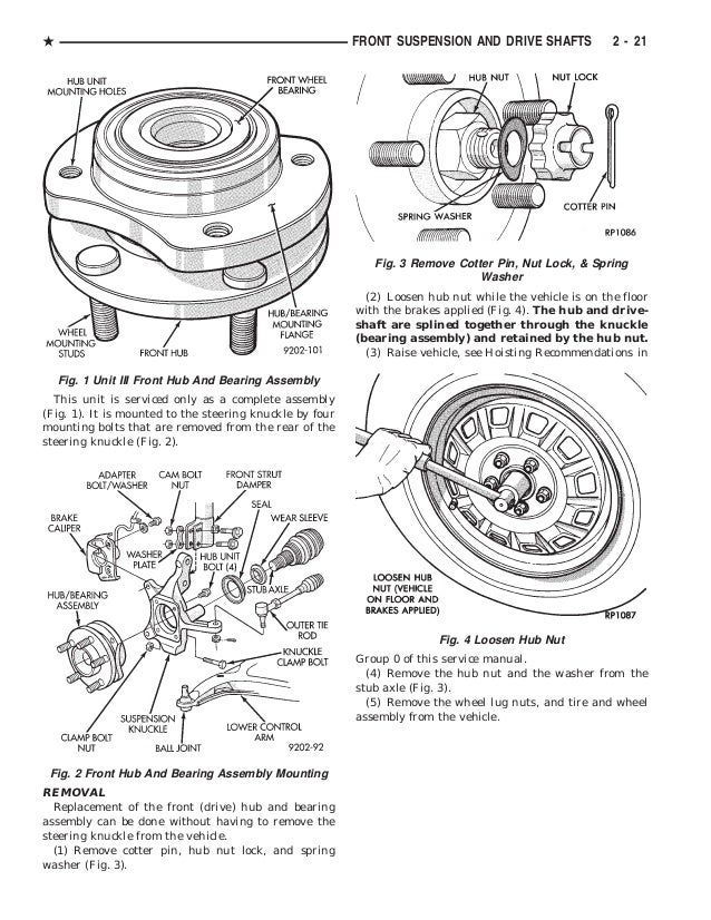1992 DODGE CARAVAN Service Repair Manual