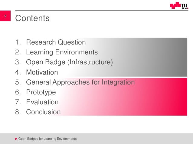Open Badges for Learning Environments Slide 2
