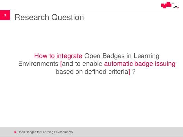 Open Badges for Learning Environments Slide 3