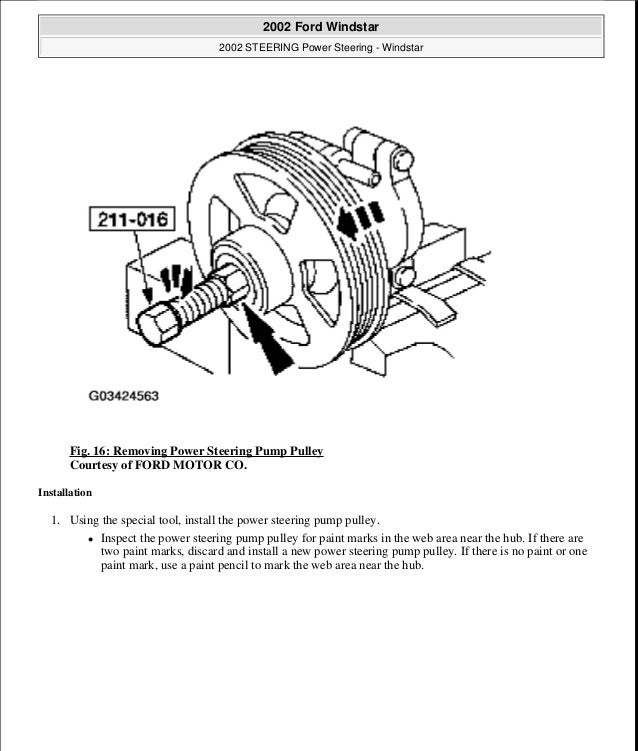 2001 Ford Windstar Service Repair Manual