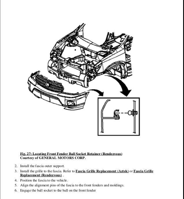 2005 Pontiac Aztek Wiring Harness