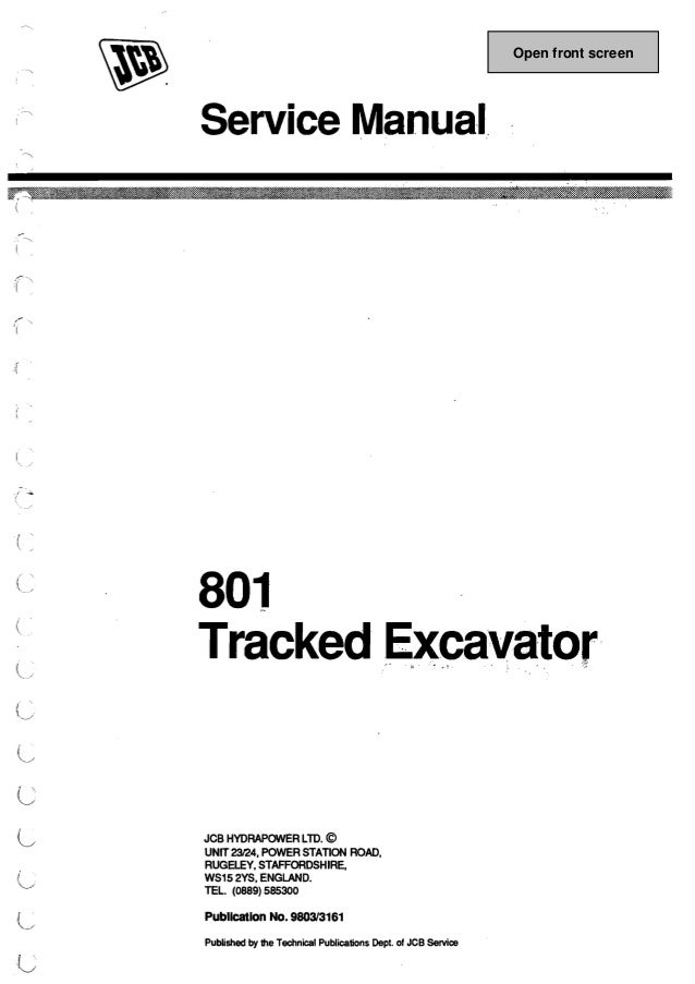 jcb 801 mini excavator service repair manual rh slideshare net jcb 801 4 manual jcb 801 4 manual
