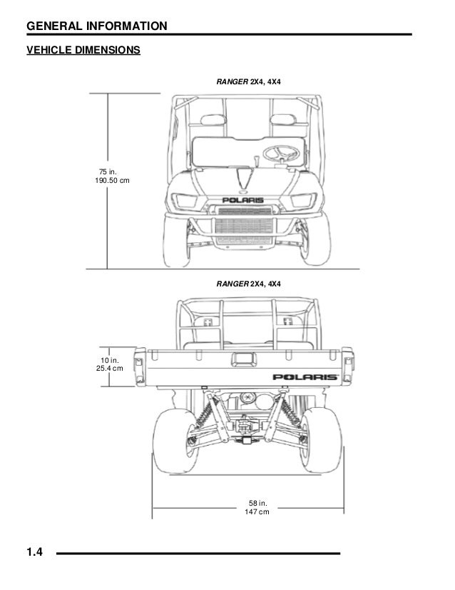 2008 Polaris Ranger 2X4 500 Carb Israel Service Repair Manual