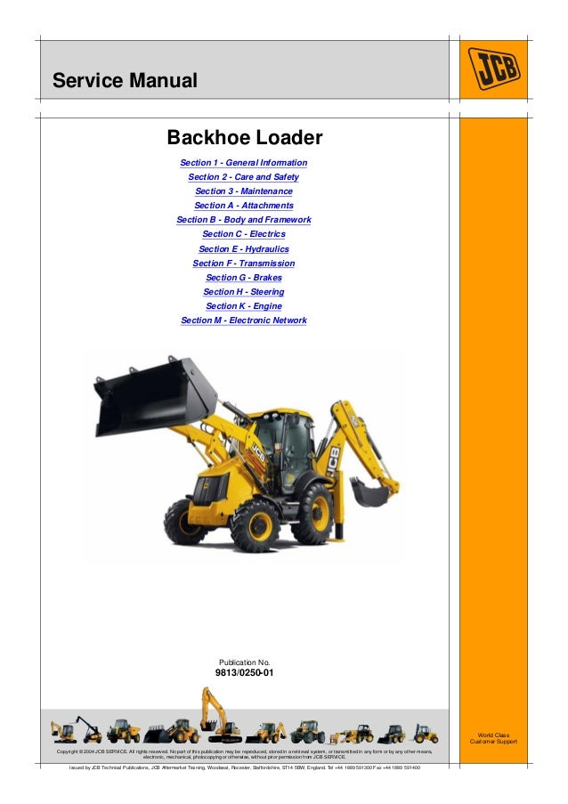 Jcb 3cx Backhoe Loader Service Repair Manual Sn Uff1a2000000