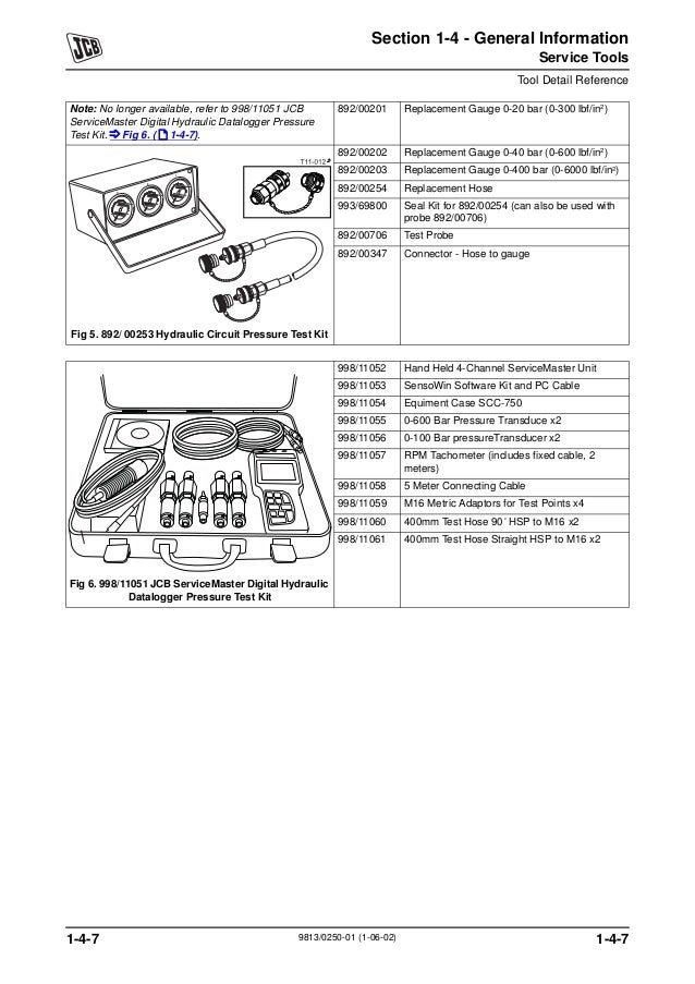 JCB 4CX BACKHOE LOADER Service Repair Manual SN:2000000