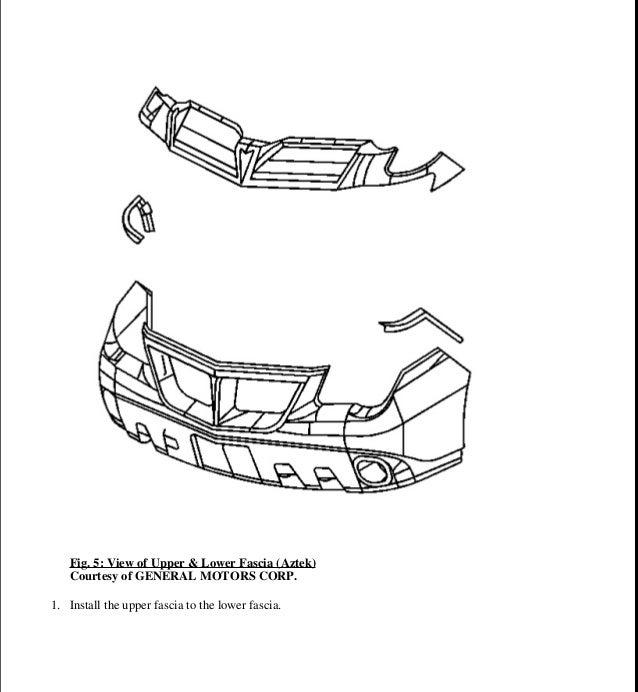 2005 PONTIAC AZTEK Service Repair Manual